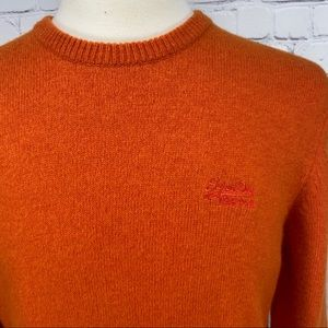 Superdry Lambswool orange crewneck sweater 2XL